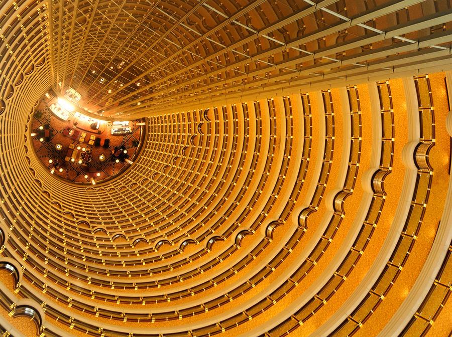 Das Atrium des Grand Hyatt Hotels in Shanghai