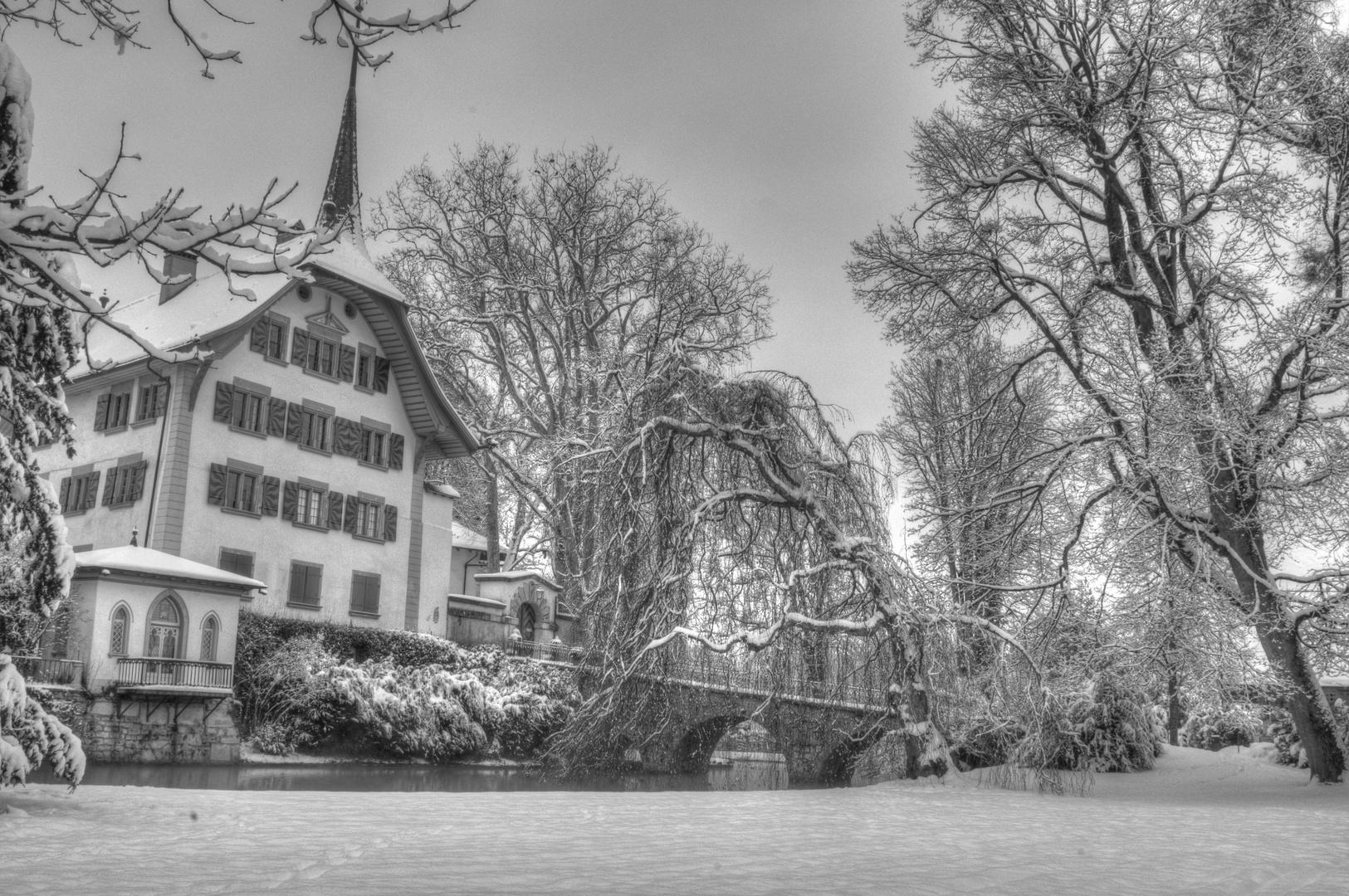 Das Aufdemlandwasserschloss im Winter