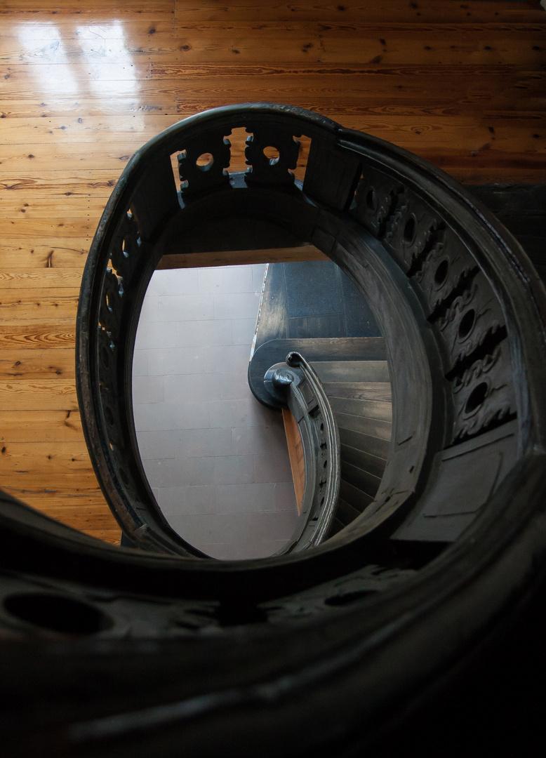 Das Auge der Treppe im Andersonschen Palais in Berlin-Köpenick
