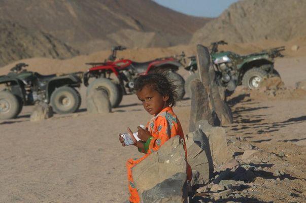 Das beduinen Mädchen