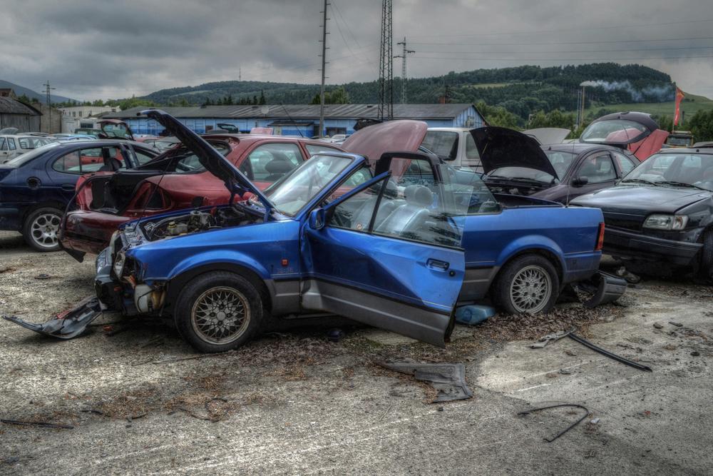 das blaue Cabrio ...