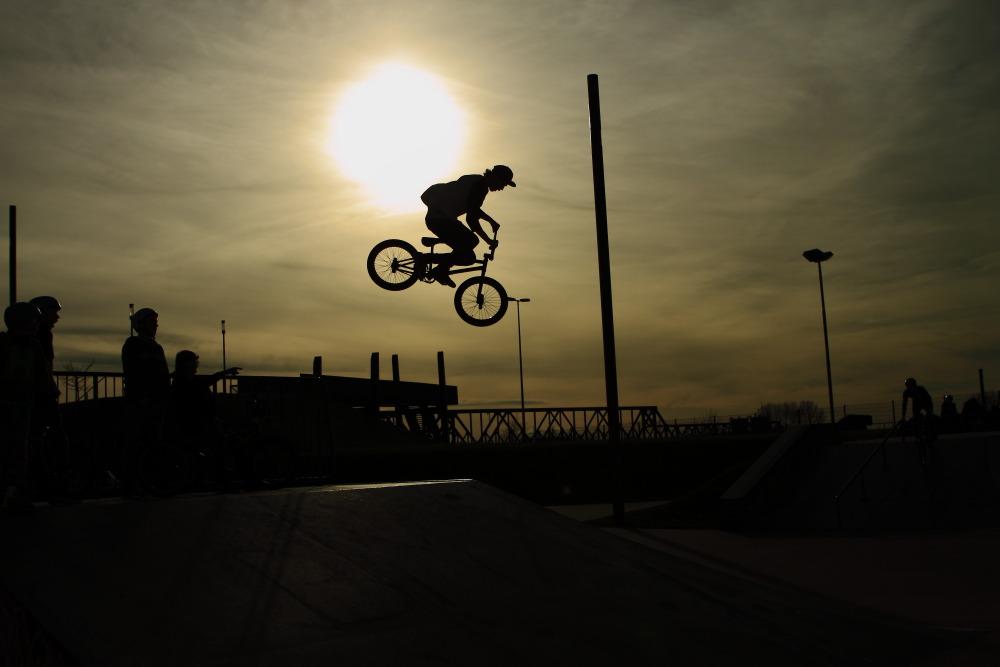 Das BMX und die Sonne