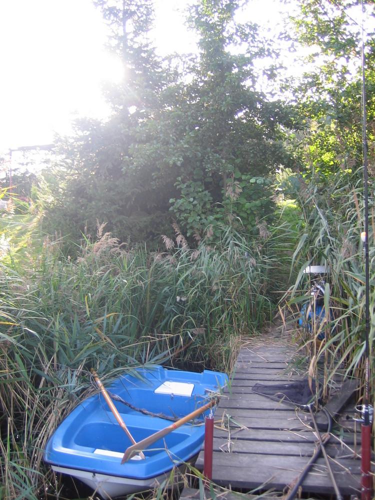 Das Boot am See Holzrampe