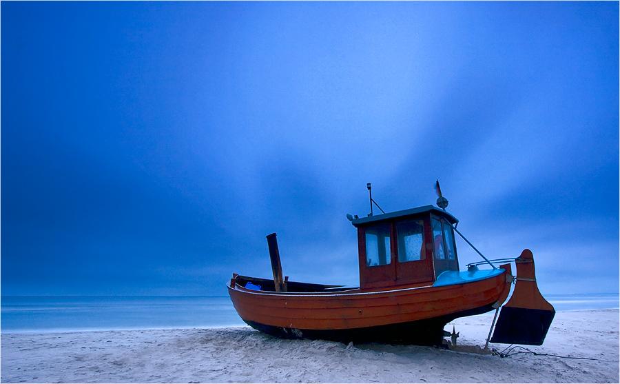 Das Boot im Sturm