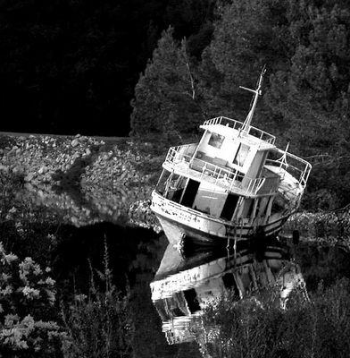 Das Boot kurz vor der Wiederauferstehung
