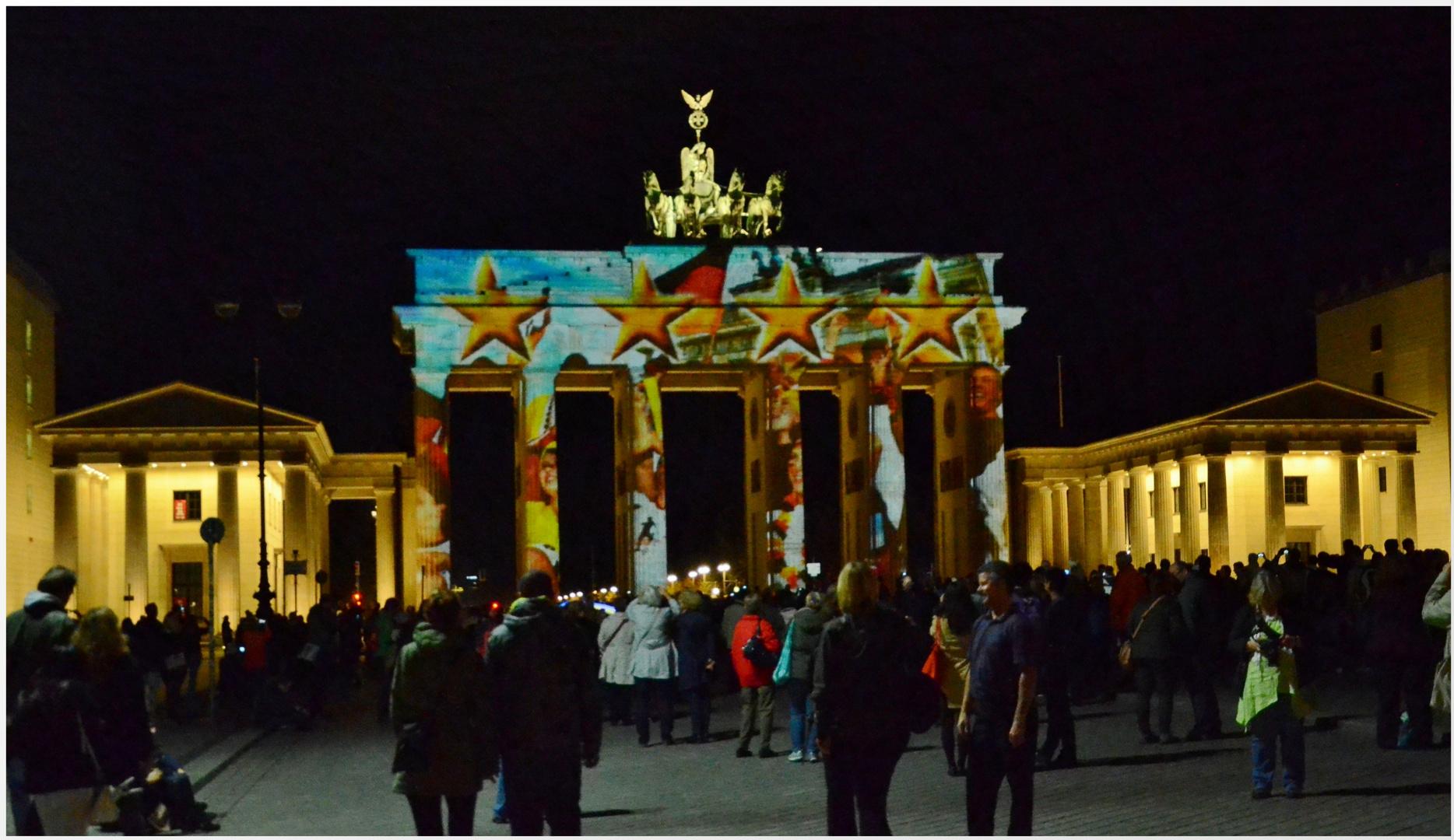 Das Brandenburger Tor- Festival of ligths, Berlin 2014