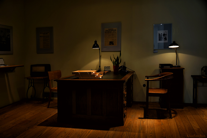 Das Büro des Redakteur
