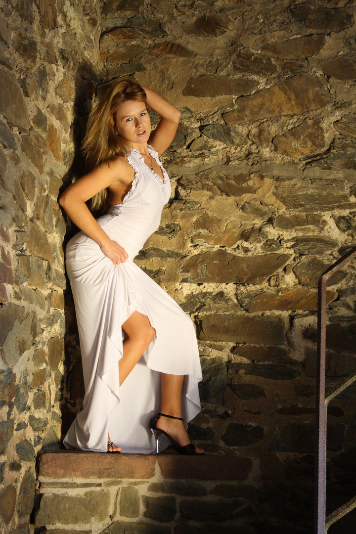 Das Burgfräulein in der Abendsonne