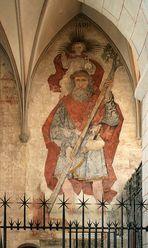 Das Christophorus-Fresko im Augsburger Dom