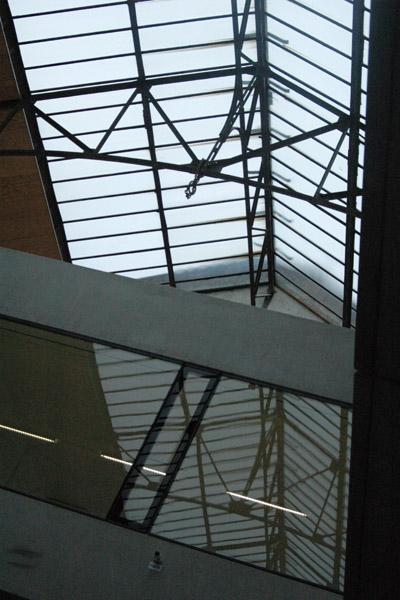 das Dach der Fabrik
