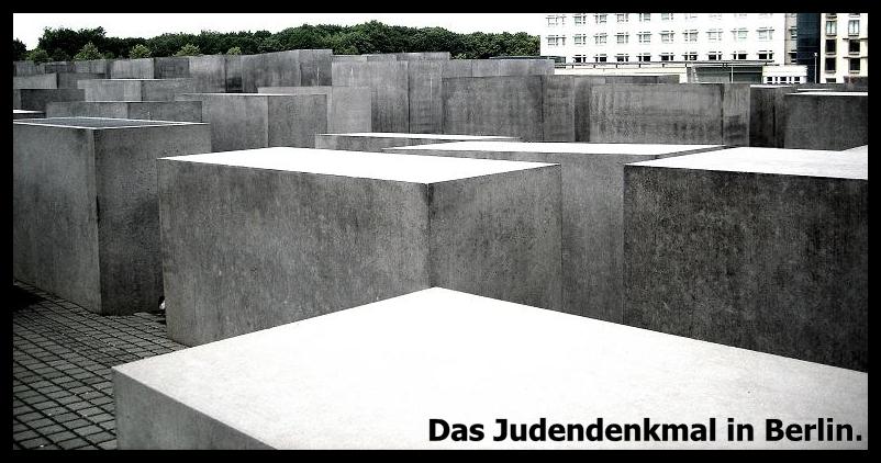 Das Denkmal für die, unter Hitler ermordeten Juden