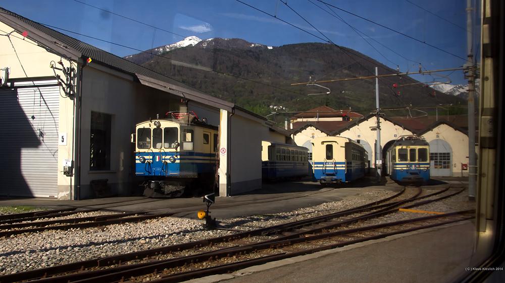 Das Depot Domodossola der Centovalli-Bahn