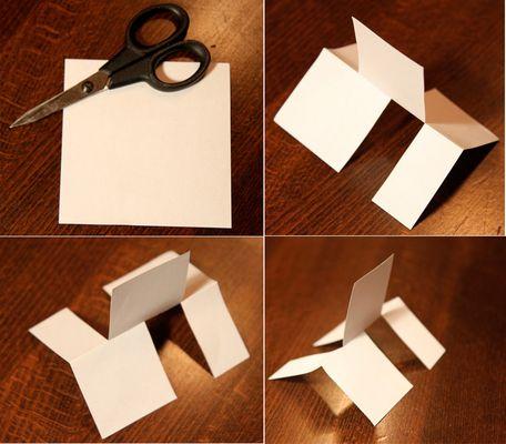 Das dreidimensionale Blatt Papier