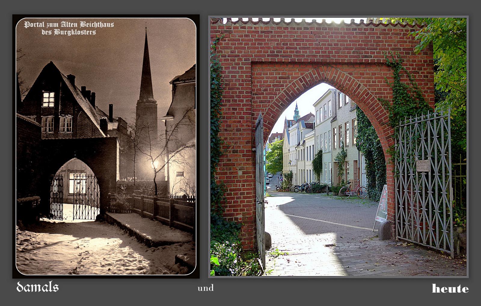 Das Eingangstor zum Alten Beichthaus vom Burgkloster ist augenscheinlich noch dasselbe