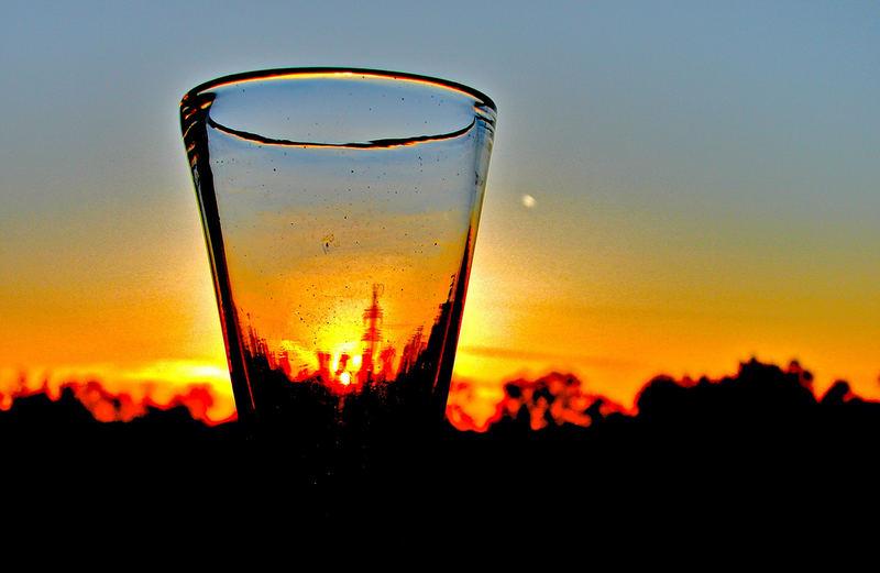 das erleuchtete Glas