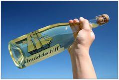 Das erste Buddelschiff zum trinken...