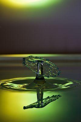 Das erste einigermassen brauchbare Wassertropfenfoto