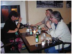 .. das erste Treffen mit Horst und Roland...