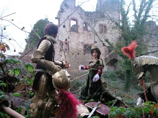 Das erste Treffen von Arthus und Ginevra vor der zerstörten Burg ihres Großvaters