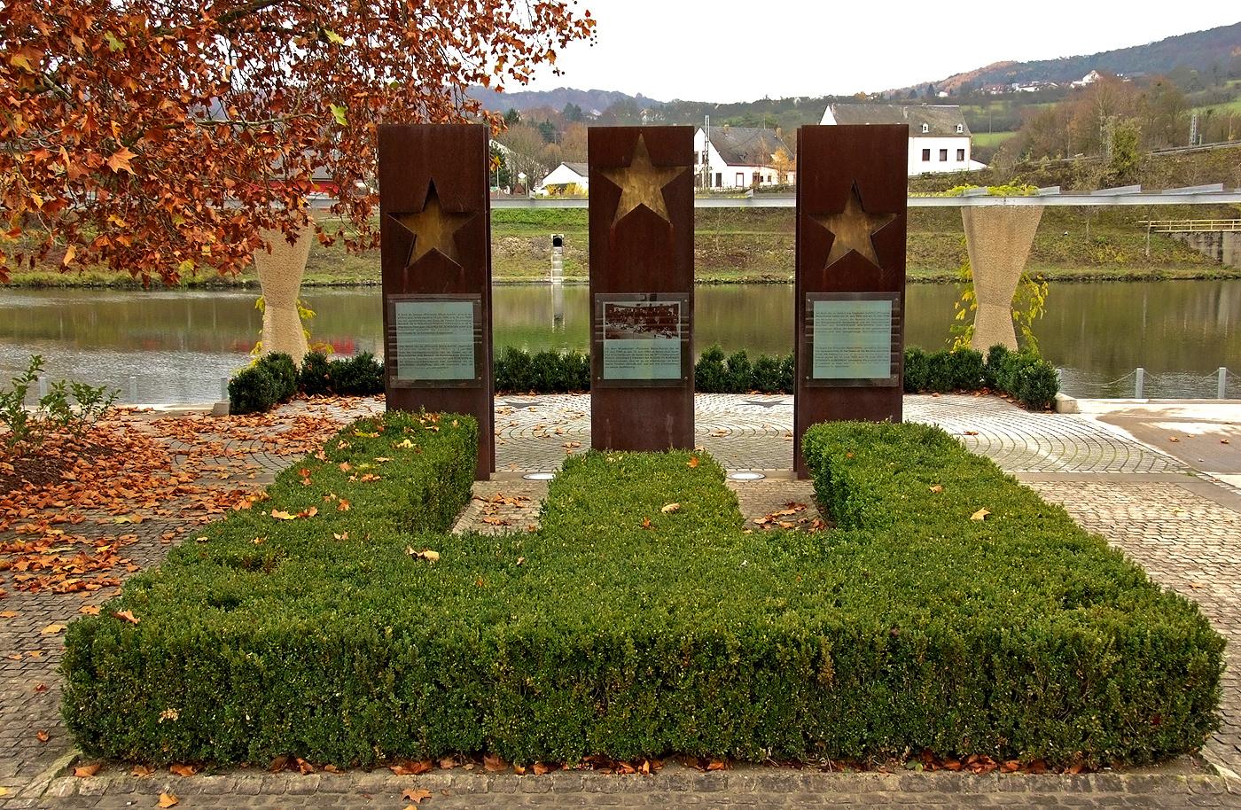Das Europadenkmal in Schengen ...