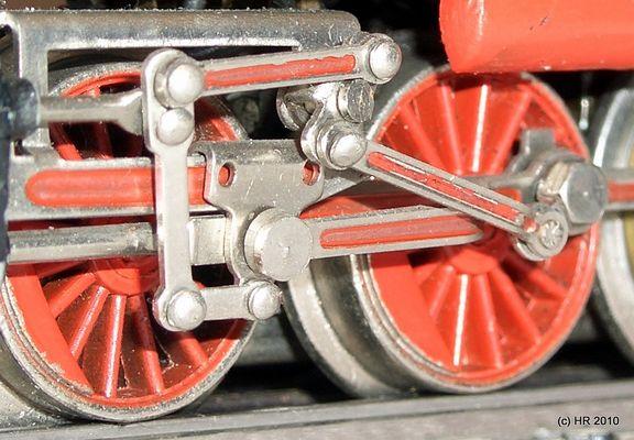 Das Fahrwerk einer BR 24 im Detail