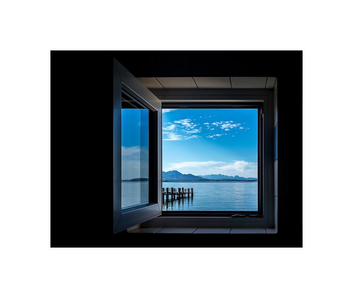 Das Fenster zum See