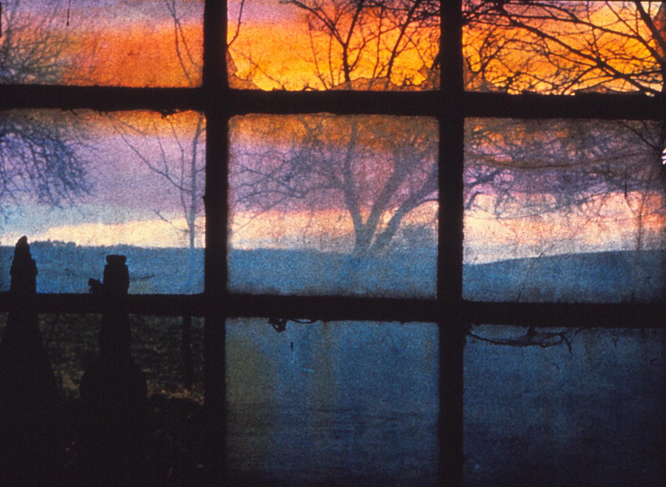 Das Fenster zum Strand an der Nordsee in Sanct -Peter
