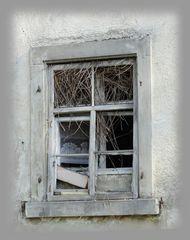 Das Fenster zur alten Mühle in Therwil.