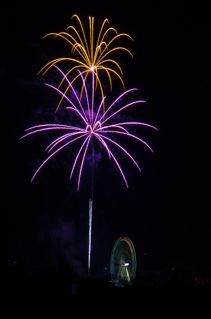 Das Feuerwerk der Soester Kirmes 2013