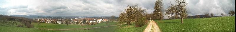 Das Filstal, Blickrichtung Stuttgart