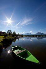 das Fischerboot am Hopfensee