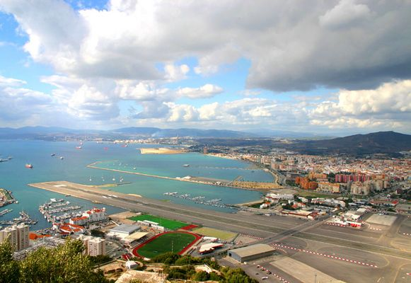 Das Flugfeld von Gibraltar