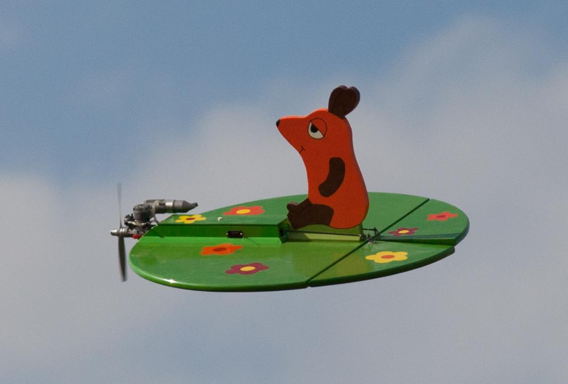 Das Flugzeug mit der Maus