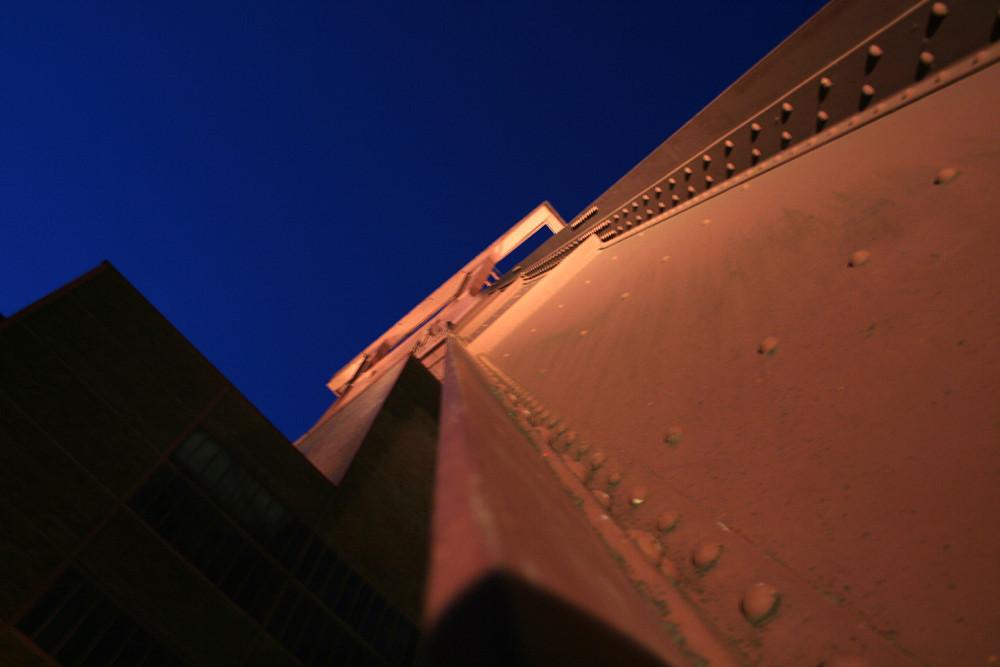 Das Fördergerüst auf Zollverein bei der Extraschicht 2008