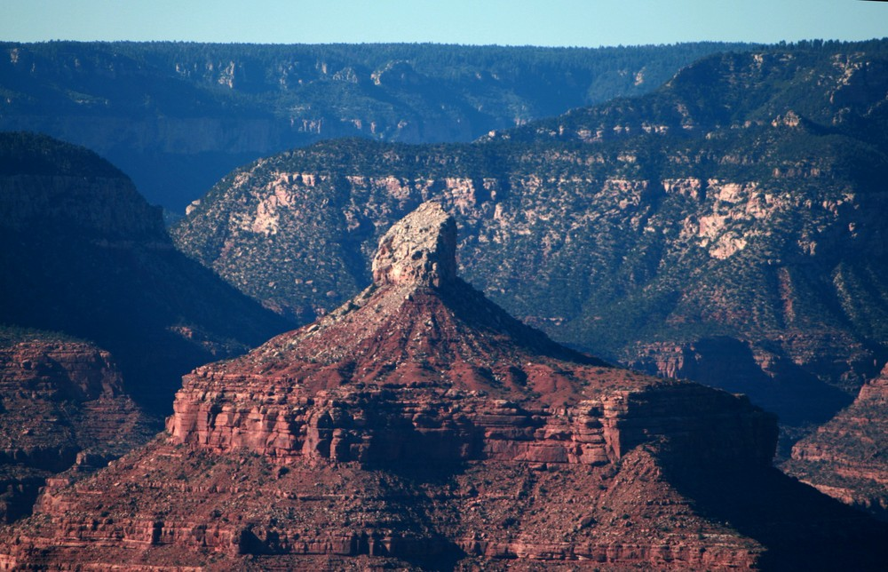 Das Gesicht wacht über den Grand Canyon