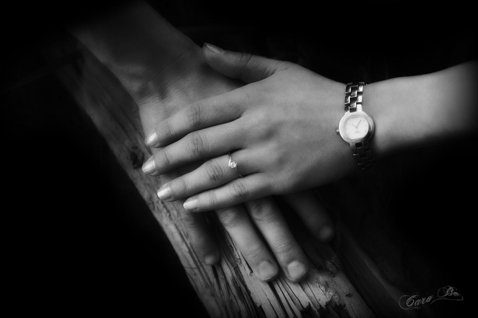 Das Glück in den Händen halten