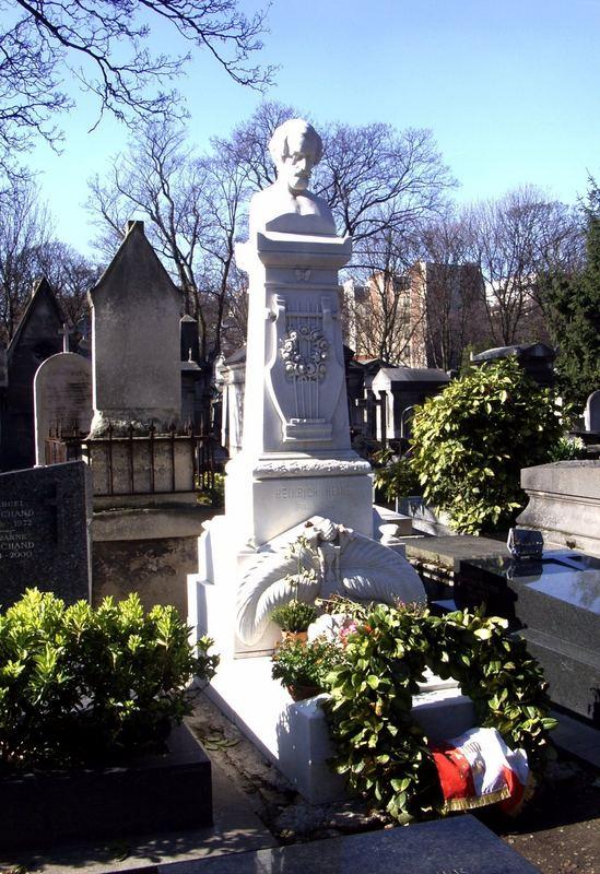 Das Grabmal von Heinrich Heine am 11.03.2007