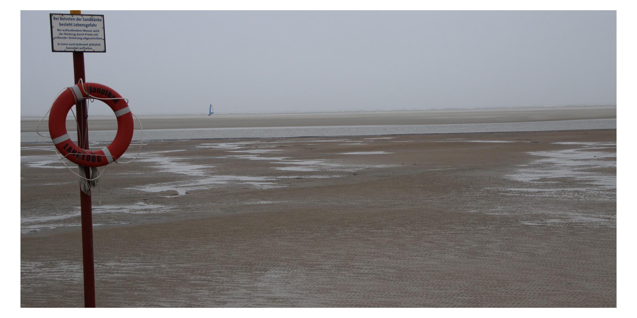 Das grau des Winters an der Nordsee