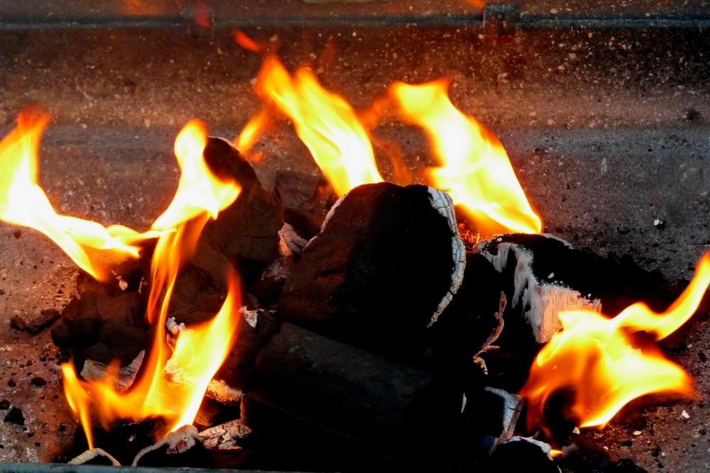 Das Grillfeuer...