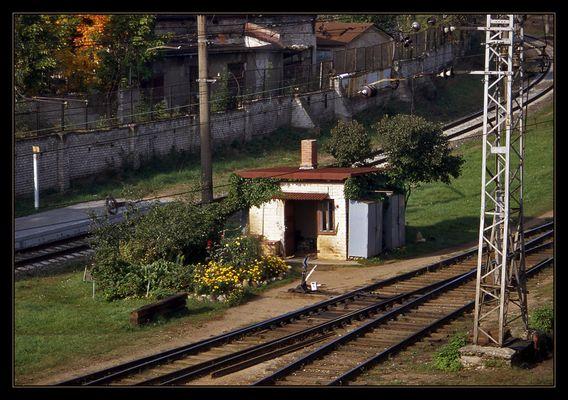 Das Häuschen des Bahnhofswärters