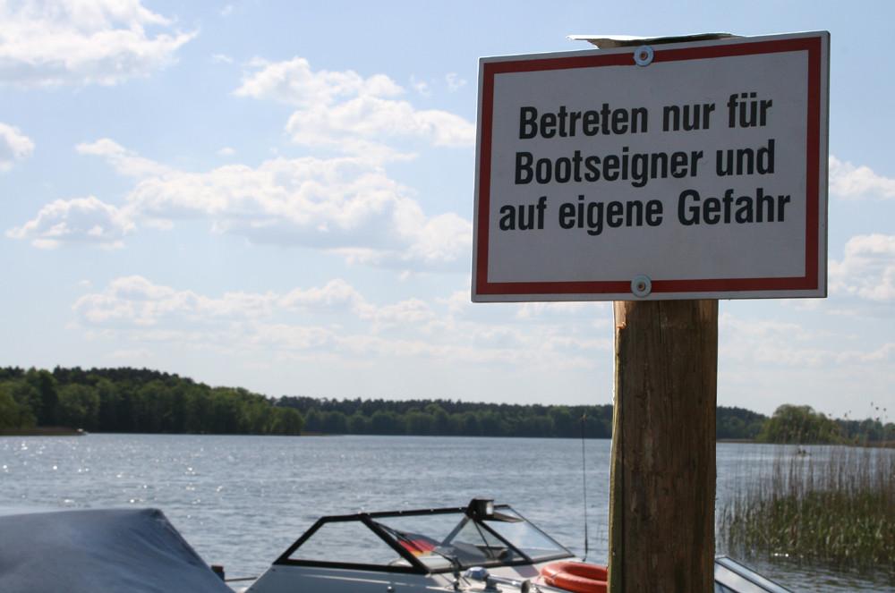 Das harte leben eines Bootseigners...