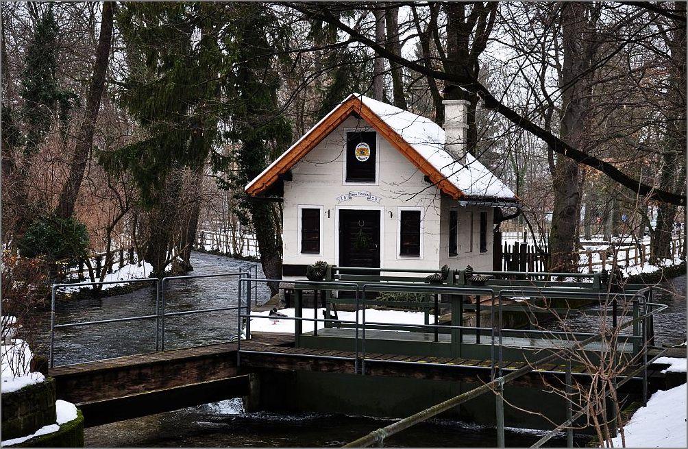Das Haus des Schleusenwärters.
