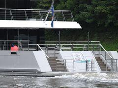 Das HECK der BIC FISH Yacht