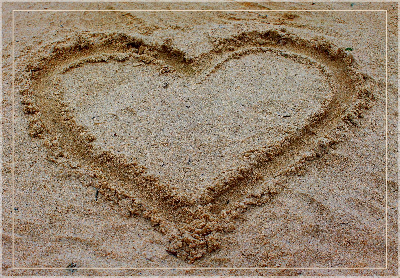 Das Herz im Sand