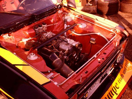 Das Herzstück des Zakspeed Ford Escort.