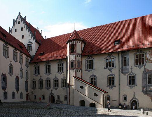 Das Hohe Schloss in Füssen (Schlosshof)