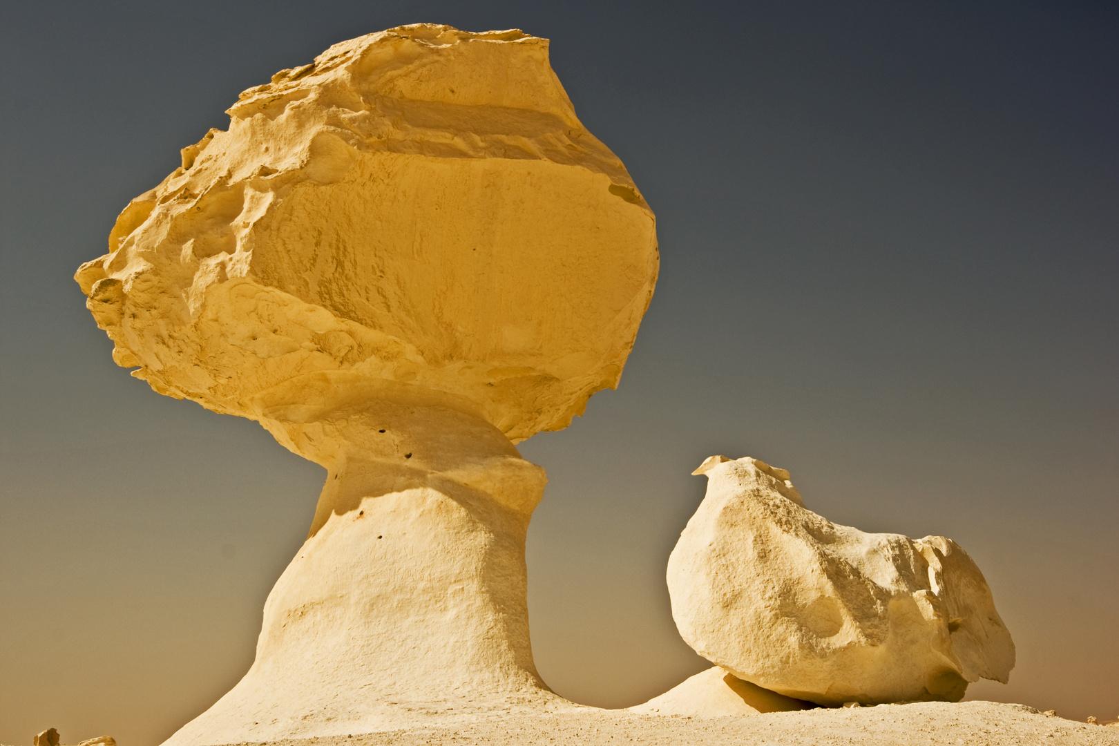 Das Huhn unter dem Stein