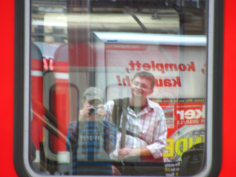 Das Ich im Zugfenster