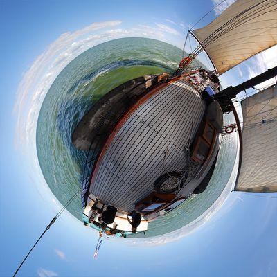 Das Ijsselmeer hab ich mir immer größer vorgestellt ...
