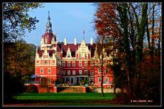 Das in Herbstfarben drapierte Neue Schloss